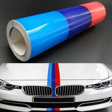 2M Universal Car Auto Power Flag Stripe M-Colored Sticker Decal Fender Fits BMW