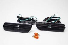 VW Bora Crystal Black Sidemarkers Set Pair Left Right With Wiring and Bulbs