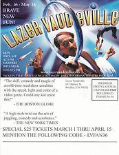 LAZER VAUDEVILLE - COMEDY VARIETY SHOW ADVERTISING UNUSED COLOUR POSTCARD