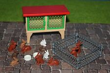 Playmobil Tiere Hasenstall   Zoo