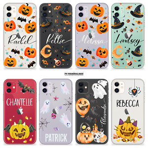 PERSONALISED HALLOWEEN PHONE CASE NAME HARD MAGIC COVER FOR IPHONE 7 8 11 12 XR