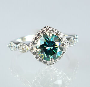 Earthmined Green Diamond Solitaire With Accents Halo Ring 4.42 Ct Certified