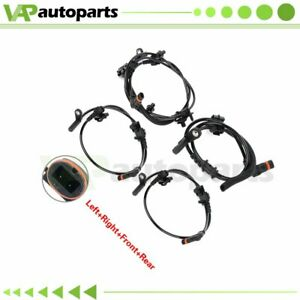 Fits Dodge Charger 2006-2010 4 Pcs ABS Wheel Speed Sensor Rear And Front Side