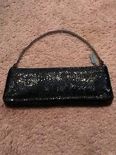 Vintage Whiting and Davis Clutch Handbag Black Metal Mesh