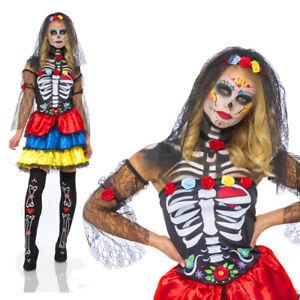 Karnival Halloween Day Of The Dead Senorita Costume