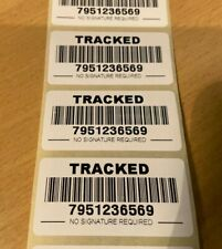FAKE TRACKED MAIL BAR CODE POSTAL STICKERS LABELS TRACKED POST DELIVERY