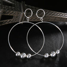 Crystal Rhinestone Large Hoop Round Dangle Earring Women Lady Ear Rings YU
