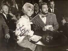 "Doris Day SIGNED Photo with Rock Hudson in ""Lover Come Back"" 1962   Comedy"