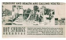Eastman Hotel, illustrated advertising, front and back, Hot Springs, Ark., 1940s