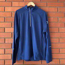 NWOT DDX Dri Duck Men's Blue Long Sleeve Qtr Zip Pullover Shirt Size Large