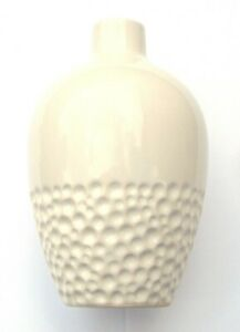 White Ceramic Vase with Lower Bubble Pattern 16 CM