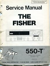 Vintage Fisher Service Manual Stereo Receiver Model 550-T