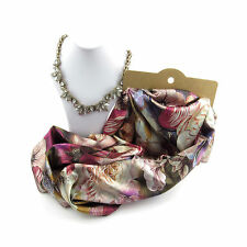 Joyas Paquete Doble Cara Estilo Floral De Bufanda Y Conjunto De Collar Para Mujer