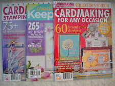 **BRAND NEW CARDMAKING STAMPING & PAPERCRAFT VOL14 # 8/VOL 15 # 1 KEEPSAKES**