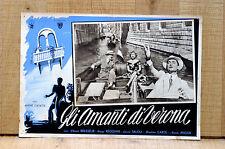 GLI AMANTI DI VERONA fotobusta poster Anouk Aimée Venezia Canali Gondola B50