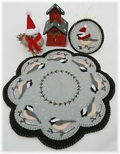 Penny Rug/Candle Mat ~*PATTERN*~Cheerful Chickadees set