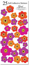 25 Bright Poppies Colorful Stickers Wedding Invitation Seals