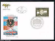 AUSTRIA 1 BUSTA PRIMO GIORNO FDC SECONAD REPUBBLICA LEOPOLDO FIGL 1970