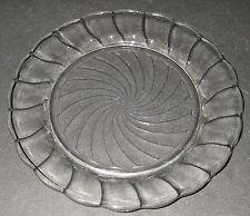 "Dominion Glass CANADIAN SWIRL Clear Shebret Plate 6"" Depression Glassware"