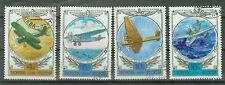 Russland Briefmarken 1978 Geschichte des Flugzeugbaus Mi.4751-53+55 gestempelt
