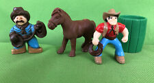 Lincoln Logs Sheriff Cowboy Bill Horse Barrel Replacement Figures / Add-On 4 Pc