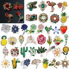Fashion Wedding Full Crystal Rhinestone Flower Brooch Pin Women Jewelry Gift Lot