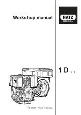 More details for hatz engine 1d 30 31 40 41 50 60 80 81 90 workshop manualreprinted comb bound
