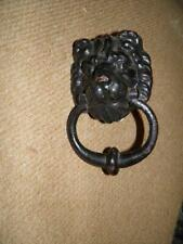 ANTIQUE EXTRA LARGE EDWARDIAN LION HEAD DOOR KNOCKER .
