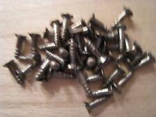 Lot de 40 Anciennes Vis à Bois en acier T.F. Fendue de 3  x 16 mm