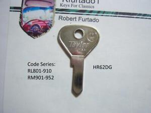 Key Blank for Vintage Alfa Romeo, Hillman, Sunbeam (See code series) HR62DG
