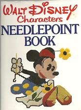 Vintage Walt Disney Characters HC Needlepoint Book 1976 First Edition 28 Designs