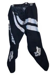 Fox Racing 180 Prix  Dirt bike Motocross Pants Black White Size 40 x 32