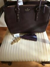 NWT KATE SPADE MULBERRY STREET LARGE LEIGHANN TOTE  with PURSE CHARM