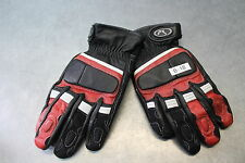 NEW Fieldsheer Motorcycle Racing Gloves Black Red WHT Size XS Men B-18 Leather