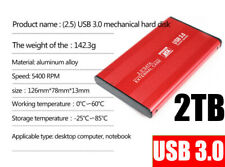 External Hard Drive 2TB HDD USB3.0 Externo HD Disk Storage Devices Laptop Red