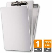Dual Storage Aluminum Clipboard, Letter Size and Memo Size, Self Locking Latch