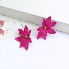 Boho Fashion Crystal Pearl Flower Earrings Women Ear Stud Dangle Jewelry Gifts