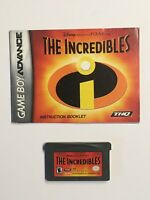 The Incredibles ~ Nintendo GameBoy Advance, Cart. ~ Authentic ~ Cleaned & Tested