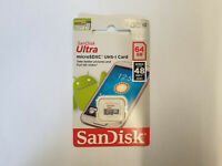 NEW Genuine 64GB SanDisk Ultra MicroSDXC UHS-I Card Class 10 48MB/s Full HD