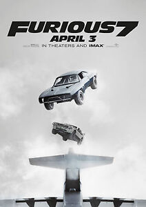 Fast & Furious 7 Giant Poster - A0 A1 A2 A3 A4 Sizes Available