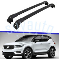 US Stock 2Pcs Cross Bars Fit for Volvo XC40 2018-2021 w/Lock Cargo Rack Luggage