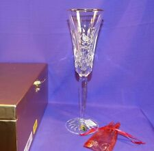 WATERFORD CRYSTAL LISMORE GOLD PARTRIDGE PEAR TREE CHAMPAGNE FLUTE 12 DAYS XMAS