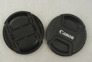 Two Canon 77mm Front Lens Caps in Excellent Condition
