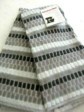 """KitchenAid Terry Cloth Kitchen Towel Set with Gray Willow Squares Towel 16""""x26"""""""