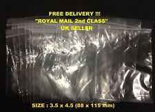1/10/25/50/100  * 3.5 x 4.5 GRIP SELF SEAL CLEAR PLASTIC RESEALABLE BAGS