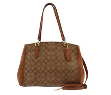 Coach Large Signature Christie Carryall Satchel Bag Crossbody Bag Handbag F58305