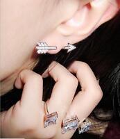 Fashion Women Lady Beautiful Crystal Rhinestone Ear Stud Earrings Jewelry Gifts