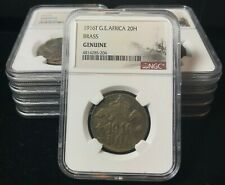 German East Africa brass 20 heller 1916-T Konigsberg Shipwreck Coin NGC Genuine