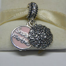 Authentic Pandora Pink Enamel Sweet Mother Pendant 791285CZ  Bead new 2014