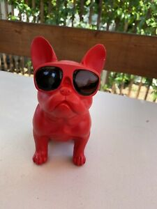 BAO GUANG TA Glasses French Bulldog Statues Figurines Animal Dog Art Sculpture